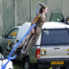 Angelina Jolie Performing Maleficent Stuntwork