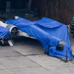 Closer Looks At 'Episode 7' X-Wing Fighters & Millennium Falcon