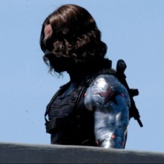 Scarlett Johansson Chased by the Winter Soldier