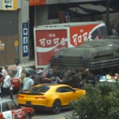Transformers 4 Shooting in Detroit w/ Bumblebee & Explosions