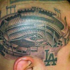 Loyal Sports Fan Gets Giant Head Tattoo